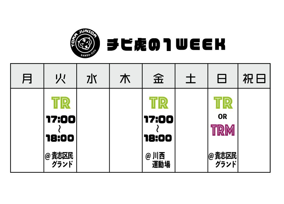 U12チビ虎_三田・西宮の虎ジュニア。予定表